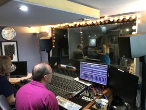 Michael Bramwell and The Duchess recording piano for Space Elevator II